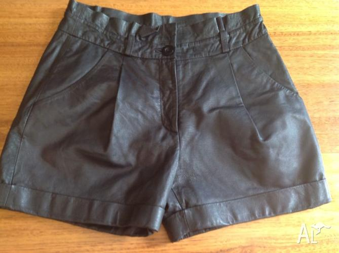 Forever New leather size 8 shorts