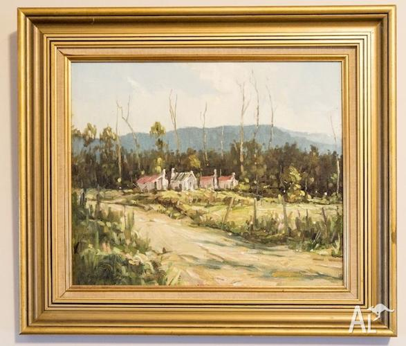 Framed Oil on Canvas painting By Tony Canfield