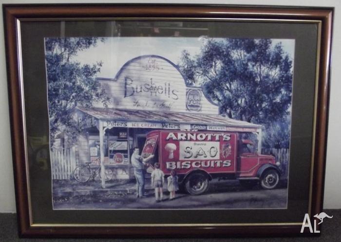 Framed Print of Gordon Hanley's 'Any Broken Biscuits'