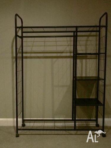 Freedom furniture black wire wardrobe