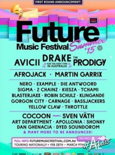 Future Music Tickets x 2 Brisbane