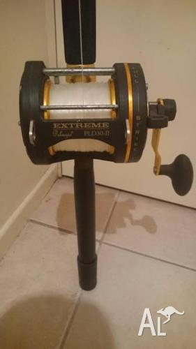 Game Fishing Rod & Reel 2 Speed Lever Drag Spooled with