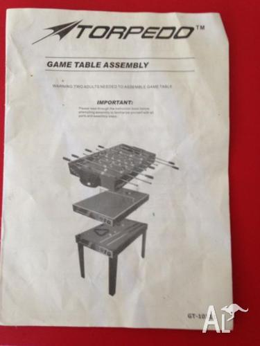 Games table: 3 in 1 Torpedo Game Table