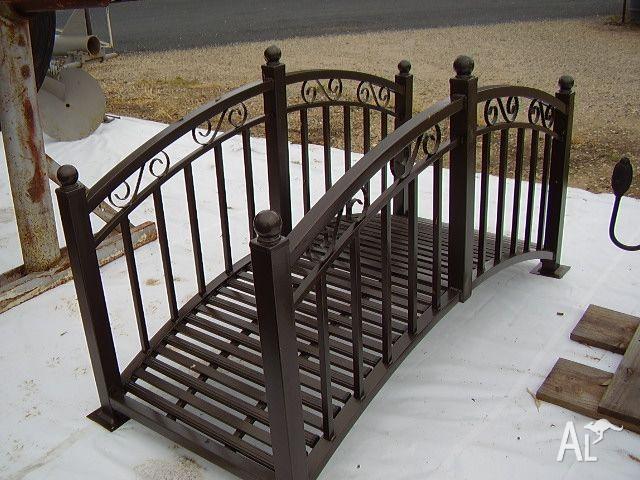 Garden bridges decorative metal for sale in albury new for Garden pond bridges sale