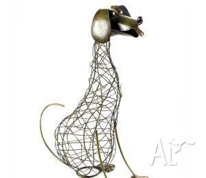 Garden Decor - Wire Dog