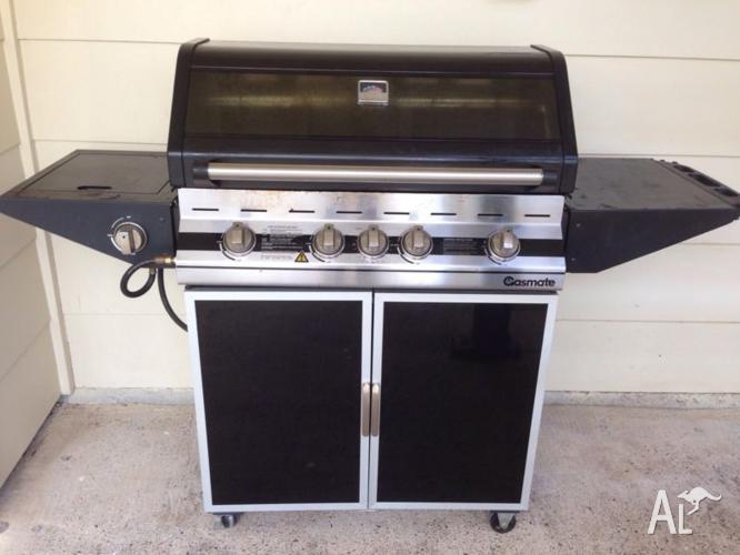 Gasmate 5 burner BBQ, wok burner & rotisserie