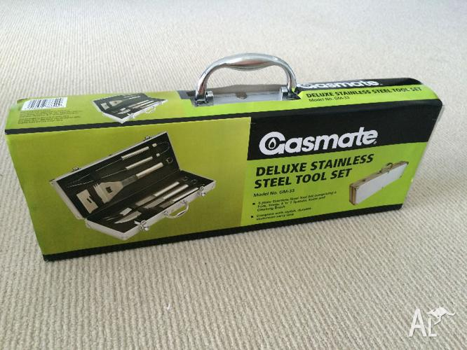 Gasmate Deluxe 5 Piece BBQ Stainless Steel Tool Set -