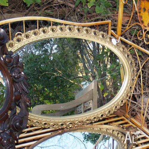Gilt Oval Framed Mirror
