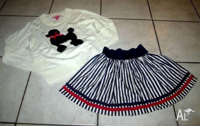 Girl's Gorgeous pumpkin patch Skirt & Top Size 10