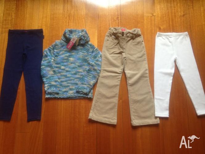 Girls Esprit Legging/ Cords/Kidsworld jumper-Size 5