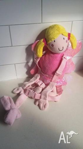 Girls Fairy Playette Pink Cute Safetey Harness2
