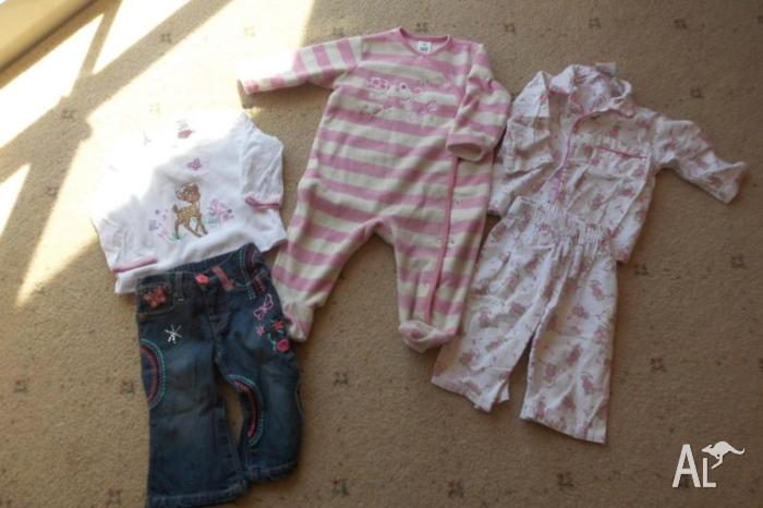 Girls size 0 clothes / PJ's ** price reduced