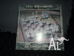 Glass Chess Set in box