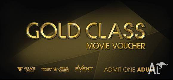 Gold Class Anytime eTicket(s) at Event, BCC & Village
