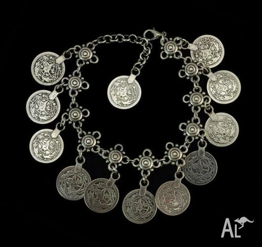 GORGEOUS SILVER COIN ANKLET ankle chain Bracelet Foot
