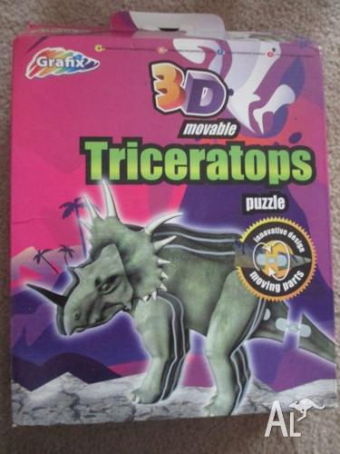Grafix 3D Build Your Own Movable Model Triceratops