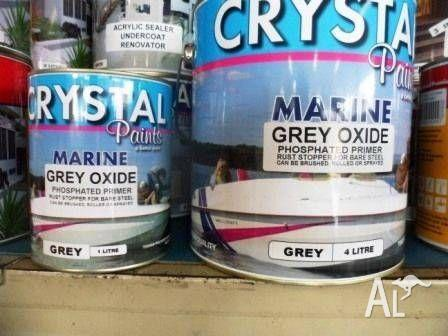 GREY OXIDE PHOSPHATED PRIMER 4 LITRE MARINE BRUSH, ROLL