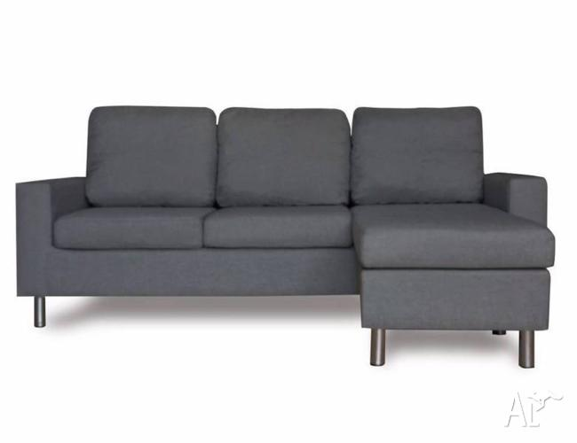 Grey white black pu leather fabric 3 seater sofa lounge for Furniture 8 hoppers crossing