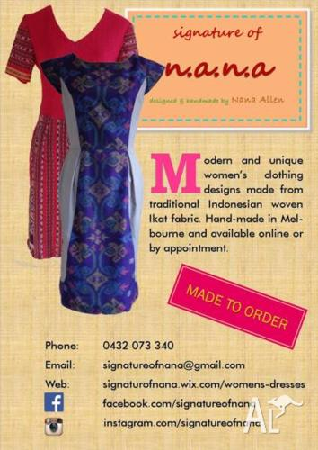 Hand-made Women's Dresses - In Stock and Made to Order