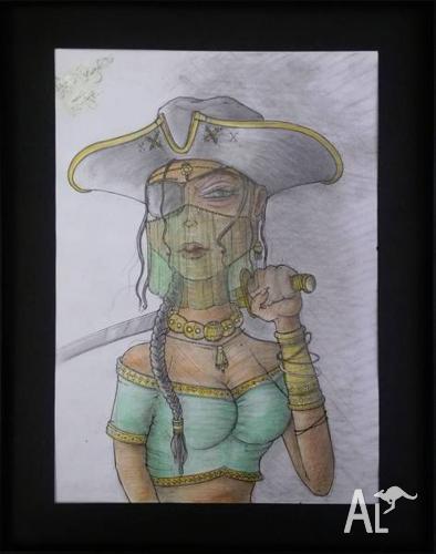 Hand Drawn Framed Sketch