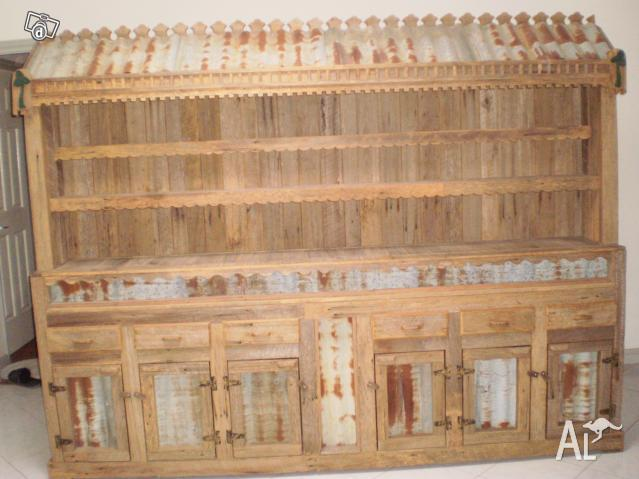Hand made wall unit fencepalings