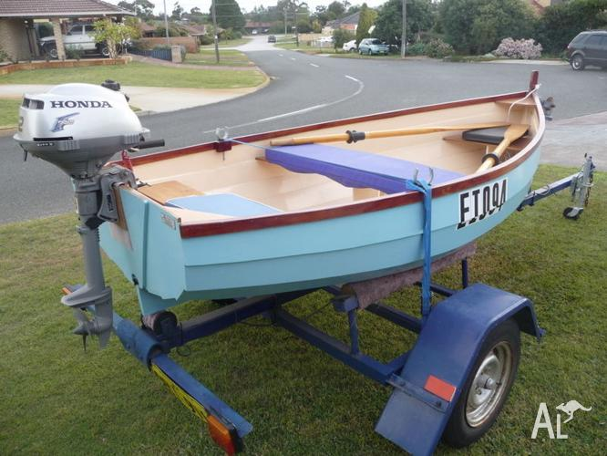 Hand made wooden dinghy