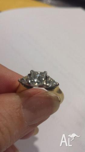 Handcrafted Engagement and Wedding Ring set PLEASE BUY
