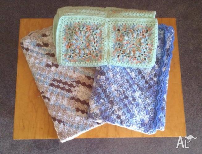 Handmade Crochet Baby Pram Blankets