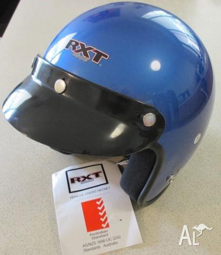 Helmet and gloves.