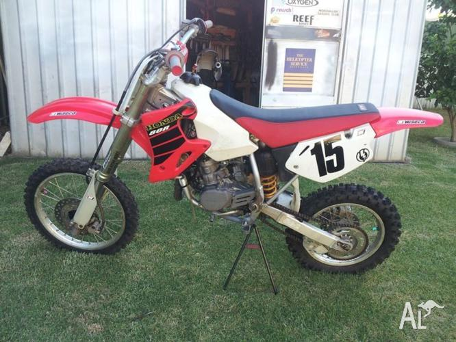 Hi for sale is a 2002 CR80r with a biger piston to a