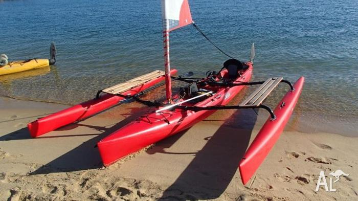 Hobie Tandem Island Sailing Trimaran Kayak For Sale In