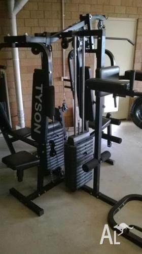 Home Gym; Multi Station Dual Weight Stack