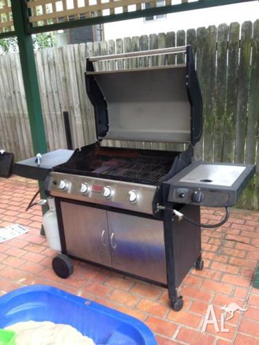 Hood Trolley Stainless Steel 4 burner with side burner
