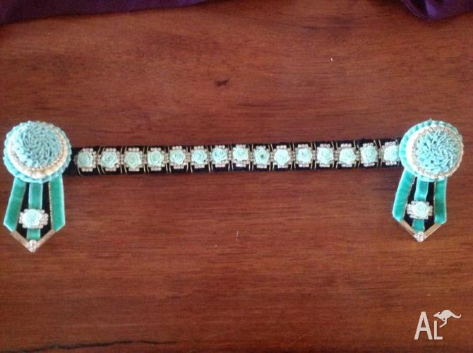 Horse Browband Mint Green