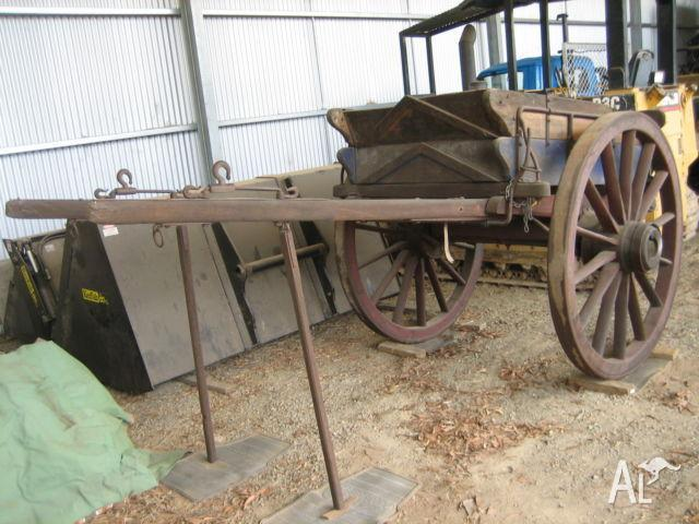 Horse Drawn TIPPING DRAY 100+ Years Old (Suit Clydie)