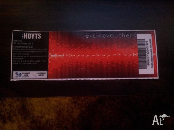Hoyts Movie Ticket Voucher Adult General Admission For Sale In