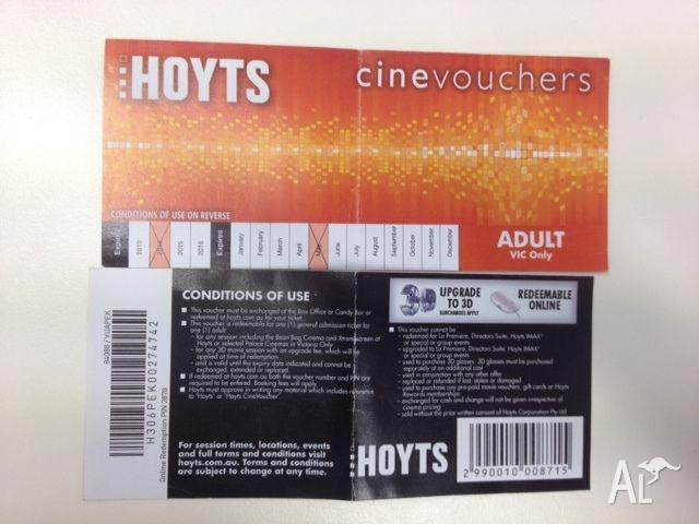 Hoyts Cinema Tickets For Sale In Chadstone Victoria Classified