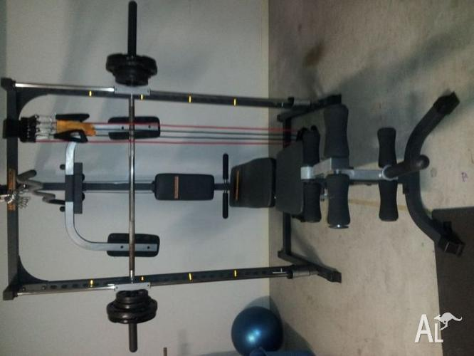 Hyper extension complete home gym for sale in burleigh heads