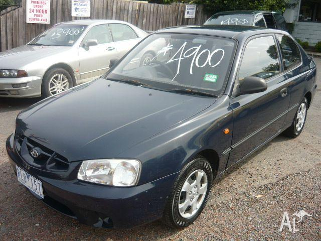 hyundai accent gl lc 2002 for sale in clayton victoria. Black Bedroom Furniture Sets. Home Design Ideas