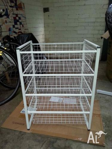 IKEA Antonius 4 wire basket and frame storage unit in & IKEA Antonius 4 wire basket and frame storage unit in white for Sale ...