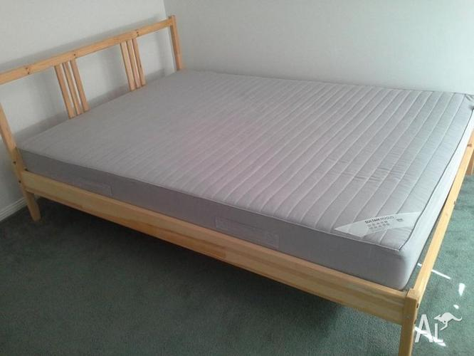 Ikea aspelund full size bed for Ikea frame sizes australia