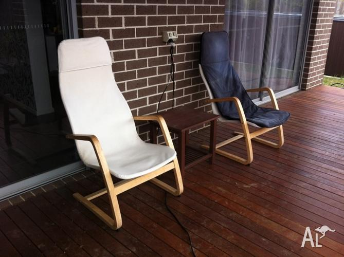 ikea lounge outdoor chairs x 2 for sale in berwick victoria