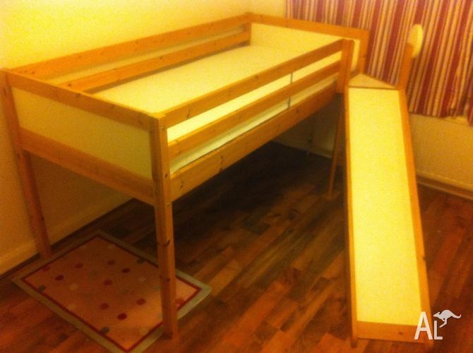 Ikea Vradel Loft Bed With Slide For Sale In Gordon Park