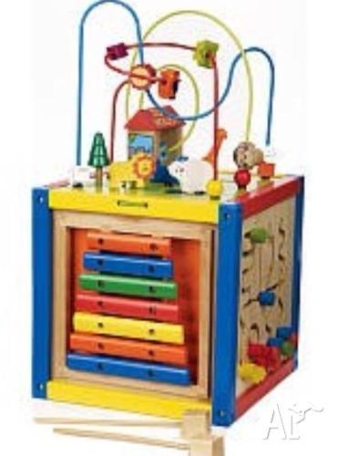 imaginarium bead maze wooden activity cube quot zoo