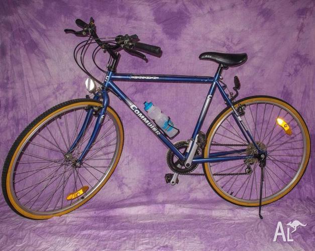 Indi Commuter gents bike 10-speed, 26-inch wheels, blue