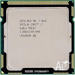 Intel Quad Core i7 860 2.8GHz 8MB LGA 1156 SLBJJ CPU