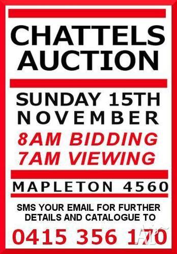 INVITATION - CHATTELS AUCTION MAPLETON 4560 15TH