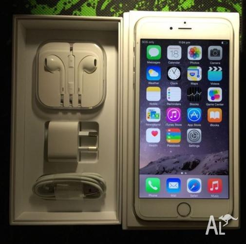iPhone 6 Plus 128G silver looks new in box with 2years