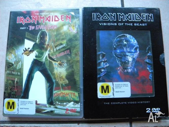 Iron Maiden DVDs: $5 each