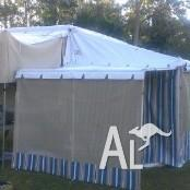 JAYCO DOVE AWNING WITH ROOM & EXTRA ROOM & PORCH - USED